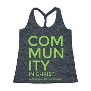 Community in Christ Women's Cosmic Twist Back Tank Top
